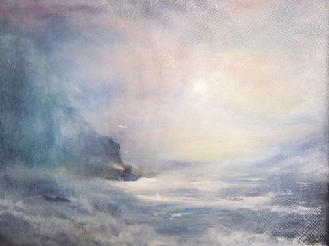 Sun-breaking-through-sea-mist